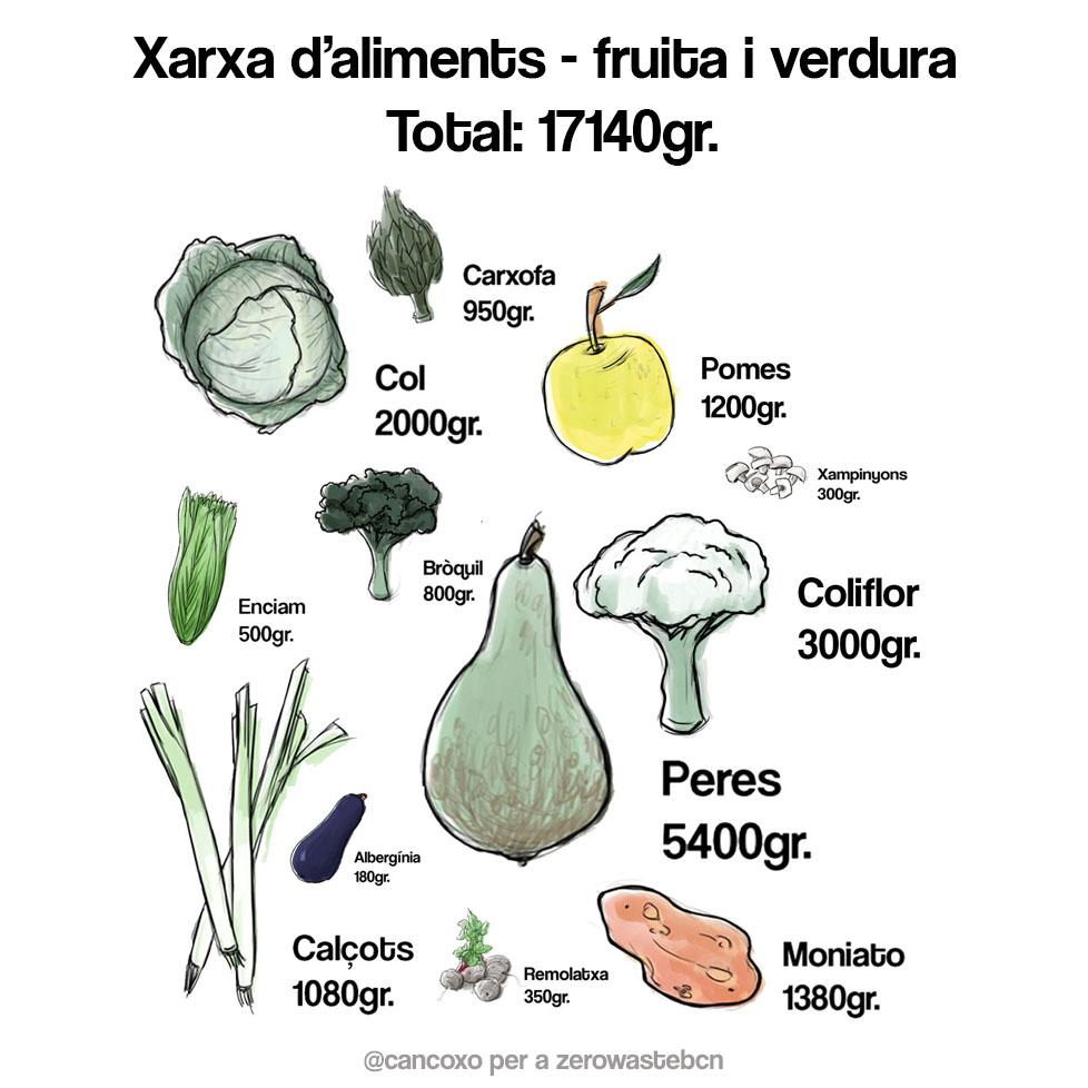 xarxes d'aliments: què hi recollim?